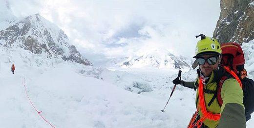 Adam Bielecki na Gasherbrumie II (fot A Bielecki)